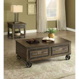 Wooden Coffee Table with storage drawers (BD-1944)