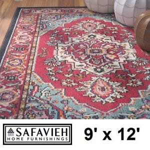 NEW SAFAVIEH 9' x 12' AREA RUG MNC207A 138251663 MULTI COLOUR GEOMETRIC AREA RUGS CARPET CARPETS FLOORING DECOR ACCEN...
