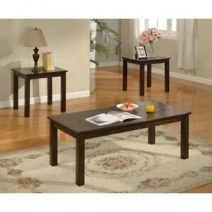 MODERN  LOOK  COFFEE  TABLE SET WITH 2 END TABLES (BR256)