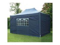 Airwaves Gazebo - 3x4.5m (blue)pop up garden shelter - NEW