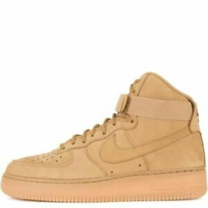 premium selection f8b62 f9ebf Nike Air Force 1 One High Strap Lv8 Premium Size 10 Flax Wheat Brown 806403  200