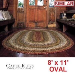 NEW CAPEL BRAIDED EATON OVAL RUG - 121834567 - 8' x 11' HANDCRAFTED MULTI COLOURED AREA RUGS CARPET CARPETS FLOORING ...