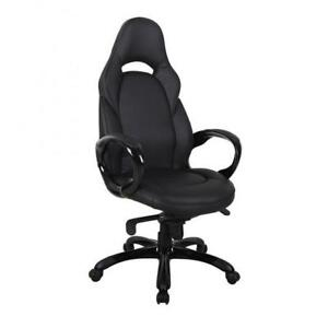 Comfortable Leather black Office Chair (BD-1908)