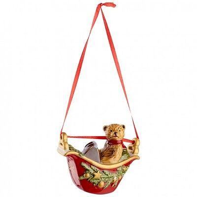 Villeroy & Boch MY CHRISTMAS TREE Ornament:  Teddy Bear in Gondola