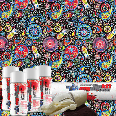 Hydro Dipping Water Transfer Printing Hydrographic Dip Kit Crazy Paisley Dd-950