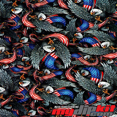 Hydrographics Film Hydro Dipping Water Transfer Printing American Pride Dd972