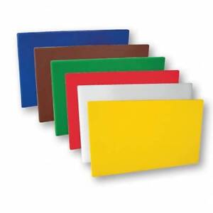 PE Chopping / Cutting Board Set 250x400x12mm Colour Coded x 6 HACCP