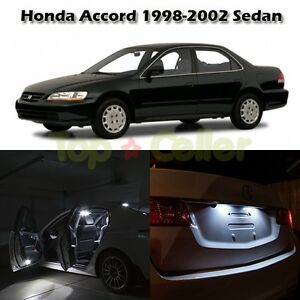 White Light Led Interior Package Kit For Honda Accord 1998 2002 Sedan