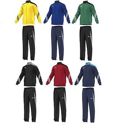 (Adidas Boys Tracksuit Kids Full Zip Junior Football Training Tracksuits Running )