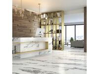 Fro Marble Affect Polished Porcelain Tiles Size - 442x890mm