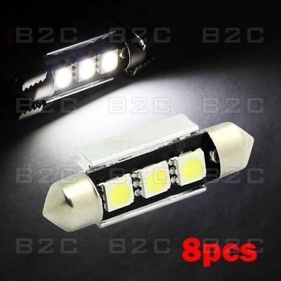 For Sale 8xWhite Epistar LED Interior Light Bulb 36mm 39mm Festoon 5050 SMD 12V