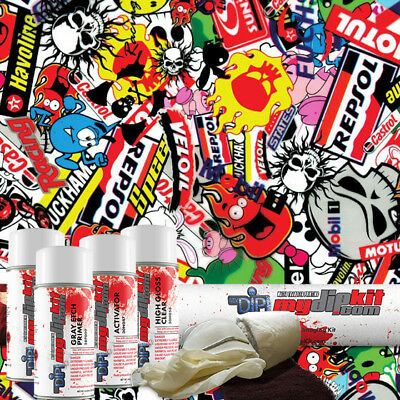Hydro Dipping Water Transfer Printing Hydrographic Dip Kit Stickers Ll-535