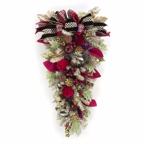 MacKenzie Childs Holiday Frost Swag Christmas Decor