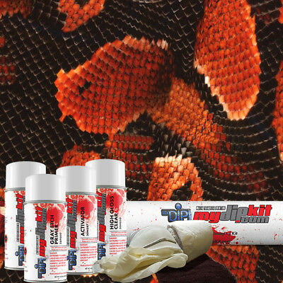 Hydrographic Film Kit Hydro Dipping Water Transfer Printing Red Cobra Ap-109