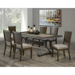 Solid Wood Dining Set with 6 chairs (BR208)