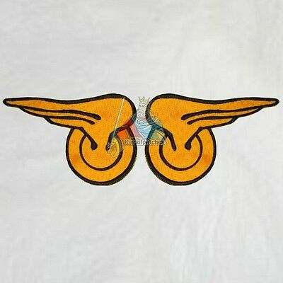 Set Flash Replica Wings Embroidered Patches Costume Barry Allen Super Powers
