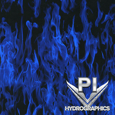 Hydrographic Film Hydro Dipping Water Transfer Printing Blue Flames Ll137