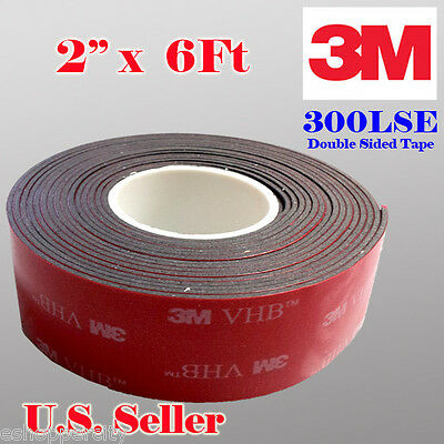 3m 2 X 6 Ft Vhb Double Sided Foam Adhesive Tape 5952 Acrylic Indrustrial Grade
