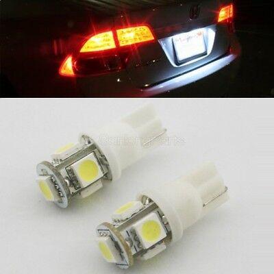 (White 2pcs 168 918 T10 5-SMD LED For License Plate LED Bulb Lamp Light 928)