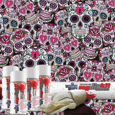 Hydro Dipping Water Transfer Printing Hydrographic Dip Kit Sugar Skulls Dd155