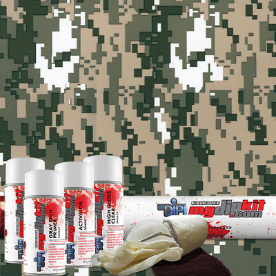 Hydro Dipping Water Transfer Printing Hydrographic Dip Kit Army Camo Mc-841