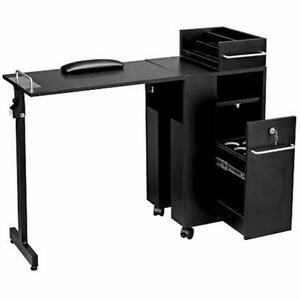FOLDING MANICURE TABLE BLACK OR WOOD