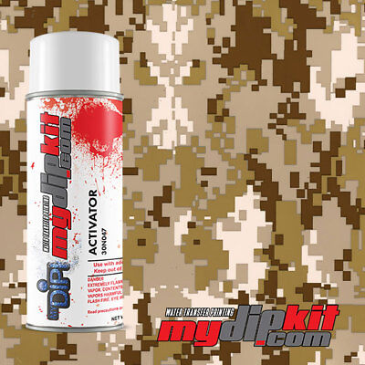 Hydrographics Activator Hydro Dipping Film Combo Tanbrown Digital Camo Mc821