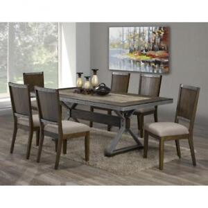 RUSTIC DINING TABLE SET | DINING TABLE SET TORONTO (BR2245)