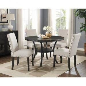 Traditional Beige 5 PC Round Dining Set (BD-1787)