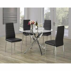 GLOSSY METAL DINING TABLE (ID-151)