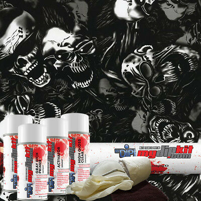 Hydro Dipping Water Transfer Printing Hydrographic Dip Kit Smokin Skulls Dd-947