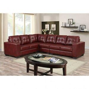 SECTIONAL...LEATHER AIRE OR SOFA AND LOVESEAT