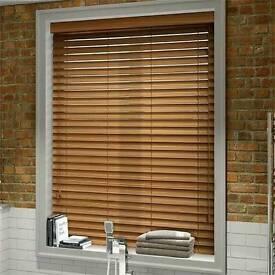4 x wooden venetian blinds