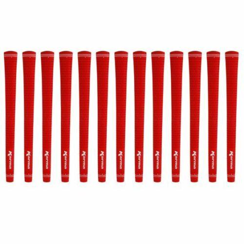"Karma Velour Red Midsize (+1/32"") 13 piece Golf Grip Bundle"