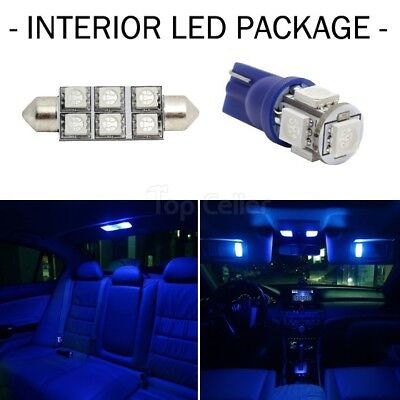 - 5x Blue Led Lights For Map 168/Dome 212-2 + 2x License Led 168 interior Package