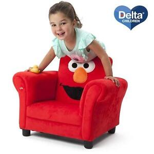 NEW DCP SEASAME STREET ELMO CHAIR DELTA CHILDREN PRODUCTS - UPHOLSTERED CHAIRS WITH SOUND KIDS FURNITURE DECOR