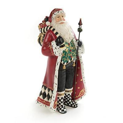 Authentic Mackenzie Childs    Holly Father Christmas  NEW