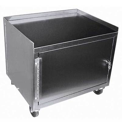 Deluxe 1 Shelf 1 Cabinet Stainless Steel Cart 19h