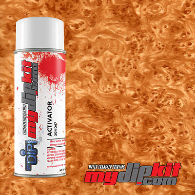 Hydrographics Activator Hydro Dipping Transfer Film Combo Burl Wood Bw4920