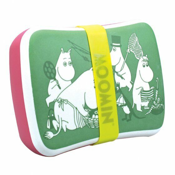 Official Licensed LUNCH BOX (BAMBOO) - MOOMIN (PICNIC) - NEW!