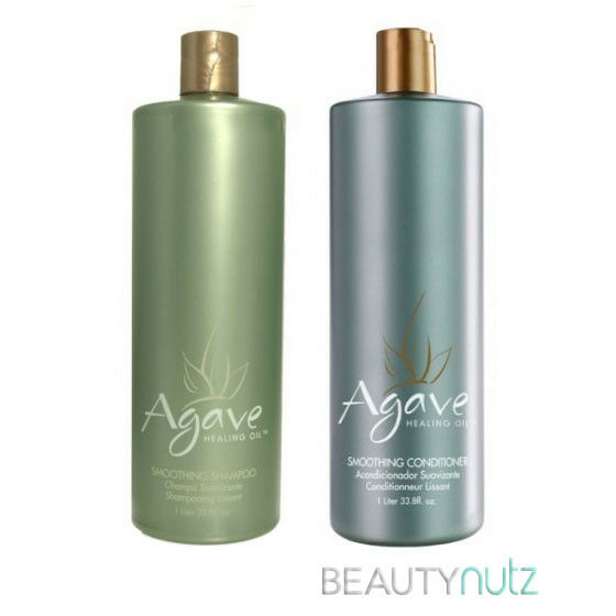 Agave HEALING OIL Smoothing Shampoo & Conditioner Liter DUO