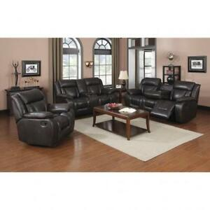 Brown Recliner Sofa set in Leather BR04 SA1011S (BD-1390)