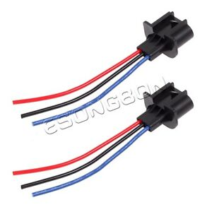 2x 9008 h13 headlight repair wiring socket extension harness
