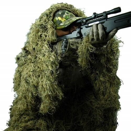 Ghillie Suit 3D 4pc w/ Bag Camouflage Tactical Hunting Forest Woodland ML-XL/XXL