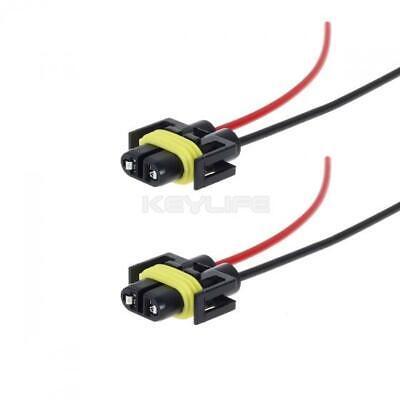 Set/2 H11 H8 Heavy duty wire headlight harness female socket Extension Connector](Female Santa)