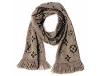 Louis Vuitton Logomania Verone Wool & Silk scarf with tags