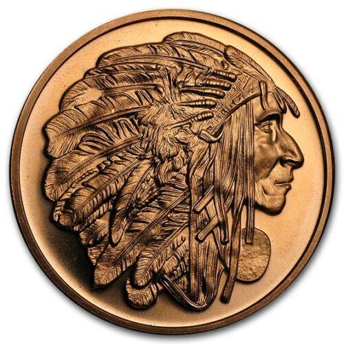 1 oz Copper Round - Medallion Chief