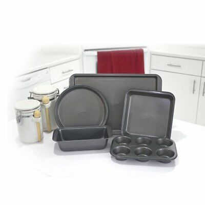 (Mrs Fields 5 piece Metal Bakeware Set, NEW Sealed Boxes Same Day Shipping)