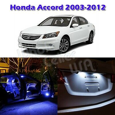 8x Interior Lights Package Blue Led Bulbs For Honda Accord 2003 12 Sedan Coupe Ebay