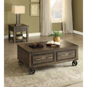RUSTIC STYLE COFFEE TABLE (BR252)